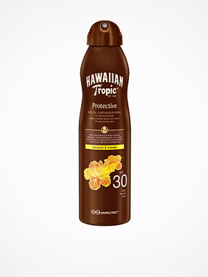 Solning - Hawaiian Tropic Protective Dry Oil Spray SPF 30 Coco & Mango 180 ml Vit