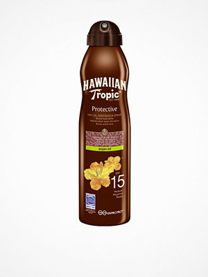 Solning - Hawaiian Tropic Protective Dry Argan Oil Spray SPF 15 180 ml Transparent