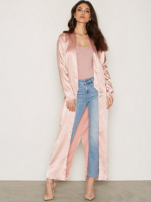 NLY Trend Satin Long Jacket Dusty Pink