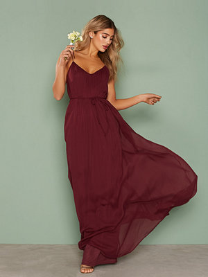 NLY Eve Chiffon Tie Gown Burgundy