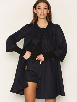 Ida Sjöstedt Swing Coat Denim Blå