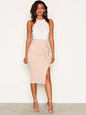 NLY One Frill Slit Skirt Beige