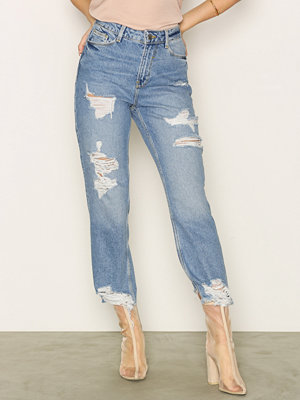 Jeans - New Look Ripped Straight Leg Jenna Jeans
