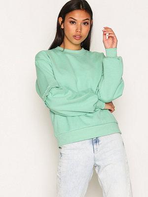 Topshop Extreme Blouson Sweatshirt Green