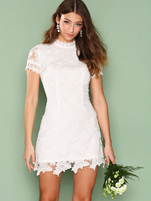Ax Paris L/S Laced Skater Dress Cream