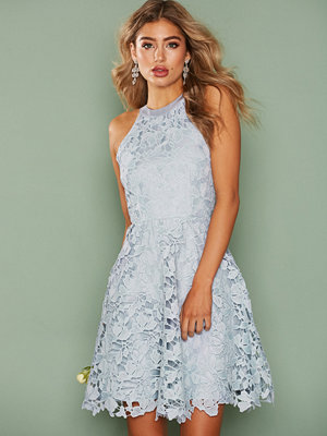 NLY Eve Scallop Lace Dress Ljus Blå