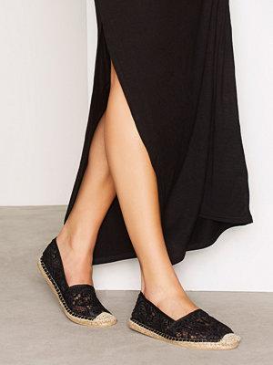 Tygskor & lågskor - NLY Shoes Lace Espadrille Svart