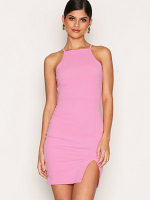NLY One Thigh Slit Dress Rosa