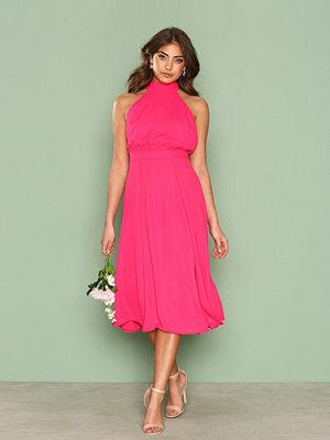 NLY One Split Halterneck Dress Cerise