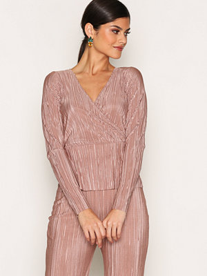 NLY One Wrap Pleats Top Rose