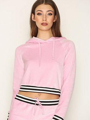 Topshop Velour Hoody Pink
