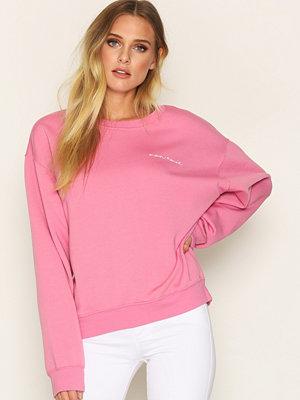 Topshop Je Suis Sweatshirt Pink
