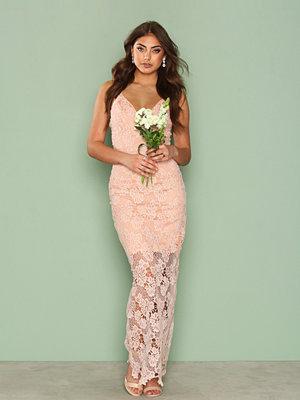 Ax Paris Lace Maxi Dress Pink
