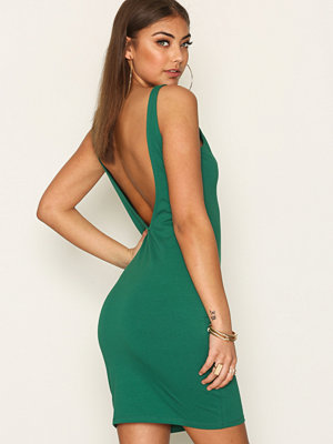 NLY Trend Open Back Bodycon Grön