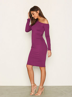 NLY Trend One Shoulder Bodycon Lila