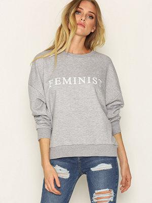 Topshop Sweatshirt Grey Marl