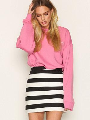 Topshop Bold Stripe Pelmet Skirt Black/White