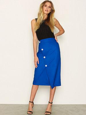 Topshop Statement Button Midi Skirt