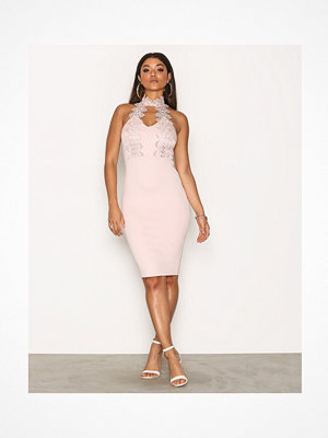 Ax Paris Halsterneck Choker Dress Pink