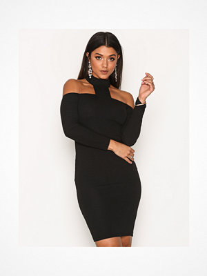 Ax Paris Long Sleeve Choker Dress Black