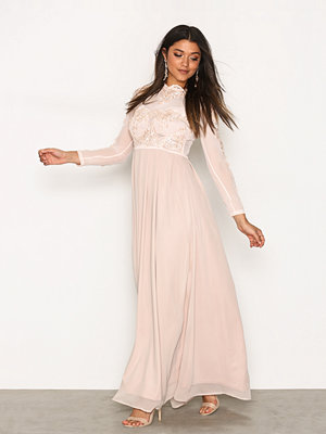 Ax Paris LS Maxi Dress Nude