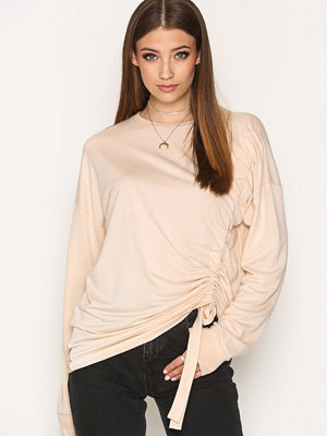 NLY Trend Front Rouche Sweat Sand