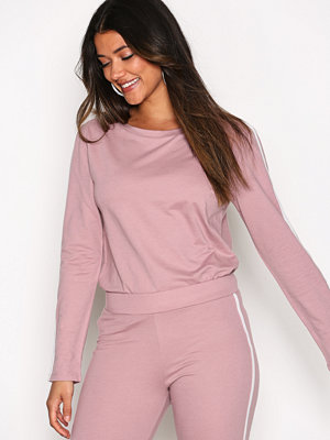 NLY Trend Sporty Sweat Dark Rose