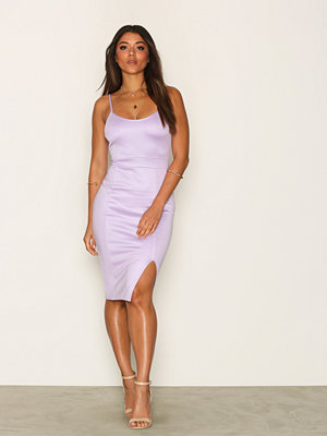 NLY One Bandage Slit Dress Ljus Lila