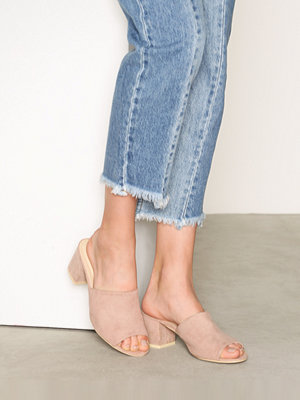 NLY Shoes Slip Heel Sandal Dusty Pink