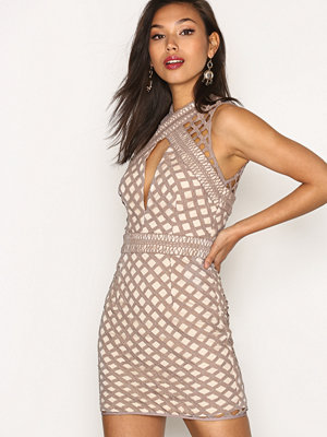 Missguided Cut Out Sleeveless Bodycon Dress Mauve