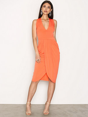 NLY One Wrap Plunge Dress Orange