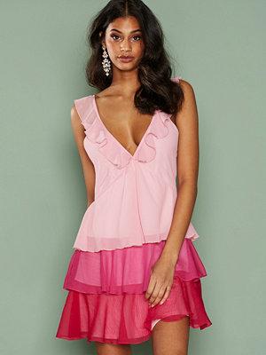 NLY Trend Frill Mini Dress Rosa
