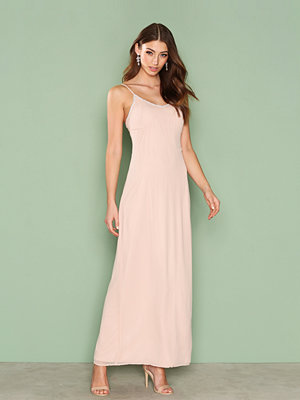 NLY Eve Simple Sparkle Gown Ljus Rosa