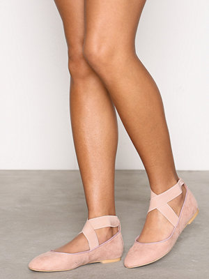 Ballerinaskor - NLY Shoes Lacing Ballerina Dusty Pink