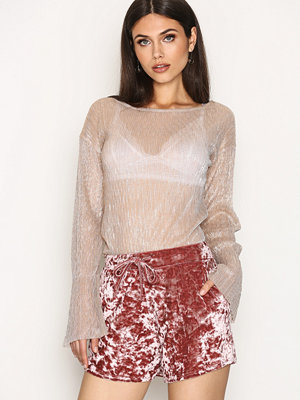 NLY Trend Crushed Lounge Shorts Rose
