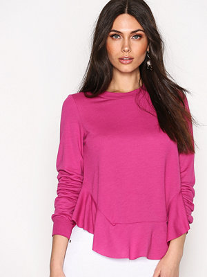 NLY Trend Low Flounce Sweat Fuchsia