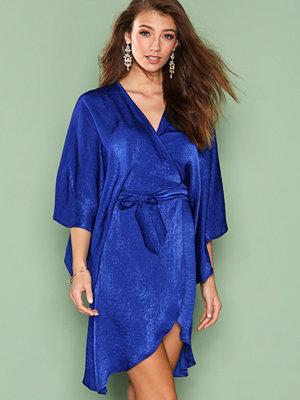 NLY One Wrap Kimono Midi Dress Cobalt Blue