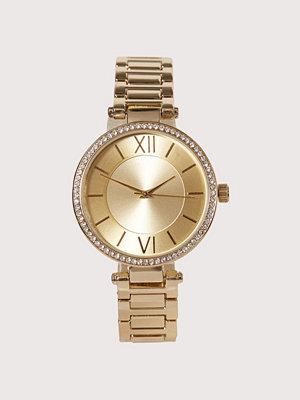 Klockor - New Look Sparkle T-Bar Watch Gold