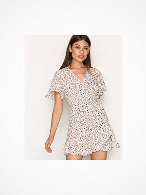 Topshop Daisy Print Ruffle Tea Dress Light Pink