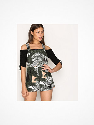Jumpsuits & playsuits - Topshop Ring Detailed Leaf Print Playsuit
