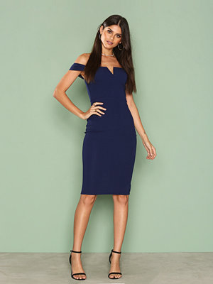 Ax Paris Bardot Midi Dress Navy