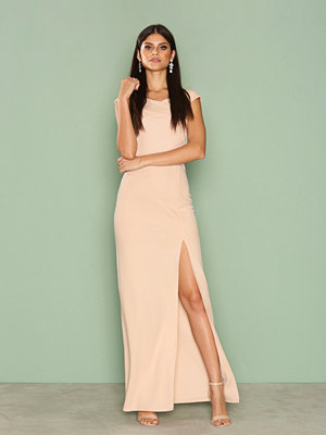 Ax Paris Cross Bardot Maxi Dress Champagne