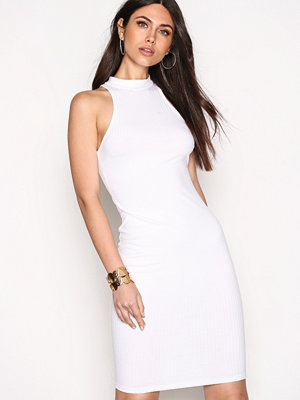 NLY Trend Wide Rib Midi Dress Vit