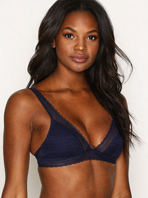 Topshop Pretty Lace Triangle Bra Navy