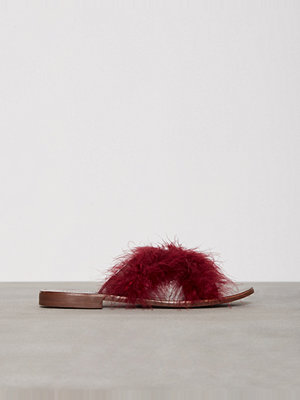 Tofflor - Topshop FENELLA Feather Sandals Red