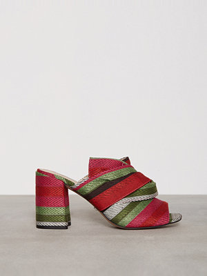 Topshop Fabric Knot Mules Multi