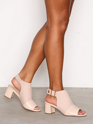 Topshop Popper Mid Sandals Light Beige