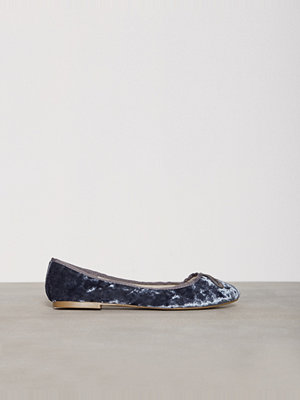 Ballerinaskor - Topshop Velvet Ballet Shoes Blue