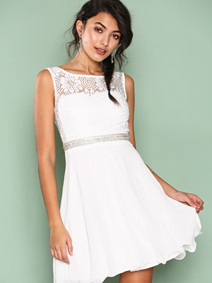 Sisters Point Sparkle Lace Dress Cream