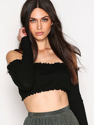 NLY Trend Cropped Frill Rib Top